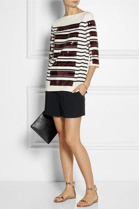 Marc Jacobs Sequin-embellished cotton-blend sweater