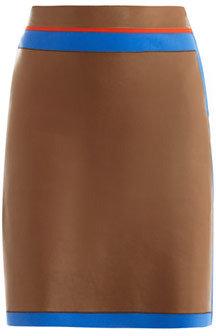 Fendi Leather and neoprene skirt