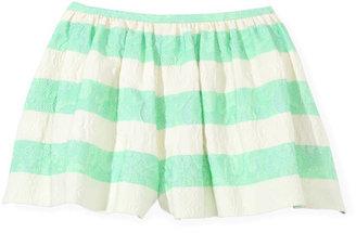 Thakoon Green Striped Full Short
