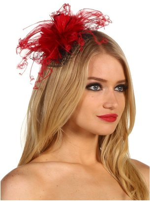 Jane Tran Red Feather Flower Clip (Red) - Accessories