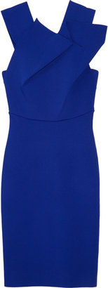 Roland Mouret Wilkes pleated ponte dress