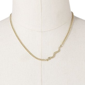Rock & Republic Rock and republic gold tone simulated crystal snake necklace