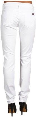 Hudson May Five Pocket Skinny in White (White) - Apparel