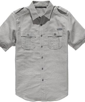 Sean John Shirt Big and Tall, Short Sleeved Linen Shirt