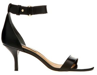 Ann Taylor Mara Ankle Strap Leather Kitten Heel Sandals