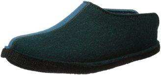 Haflinger Unisex - Adult Flai-Smily-Duo Slippers Green Grun (tannengrum 13) Size: 41