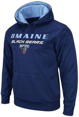 Colosseum maine black bears bootleg pullover fleece hoodie - men