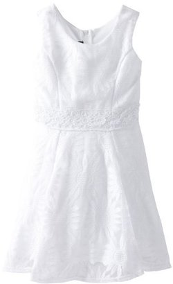 Amy Byer Girls 7-16 Daisy Lace Skater Dress