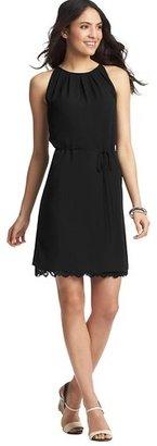 LOFT Tall Lace Trim Halter Dress