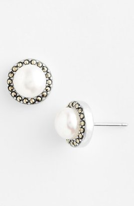 Women's Judith Jack Freshwater Pearl Stud Earrings $65 thestylecure.com