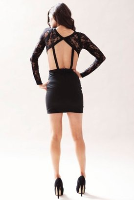 Keepsake One Way Window Dress in Black