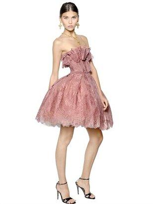 Dolce & Gabbana Galon Rayon Lace Dress