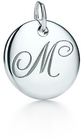 """Tiffany & Co. Notes Letter """"M"""" disc charm"""