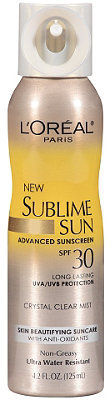 L'Oreal Sublime Sun Advanced Sunscreen Crystal Clear Mist