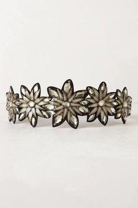 Anthropologie Jeweled Floral Belt