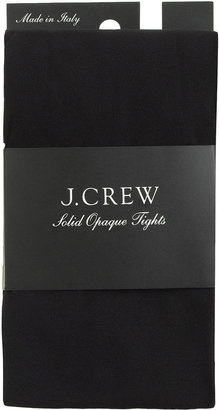 J.Crew Solid opaque tights