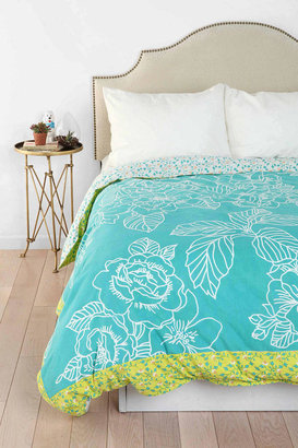 Urban Outfitters Plum & Bow Flower Berry Duvet Cover
