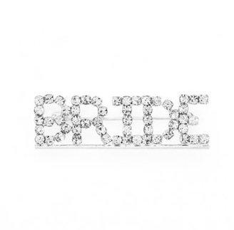 """AMY O. Bridal """"Bride"""" Rhinestone Brooch $14.99 thestylecure.com"""