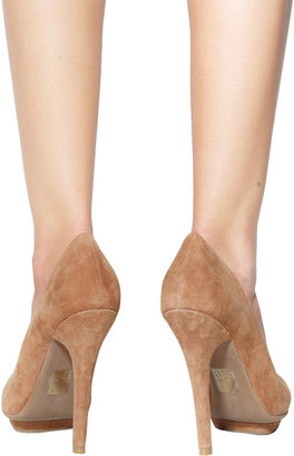 Jeffrey Campbell Bullet Pump in Nude Suede -