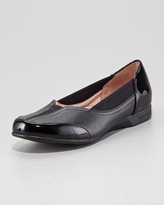 Taryn Rose Thalian Gored Slip-On Loafer, Black