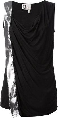 Lanvin draped bi-colour vest