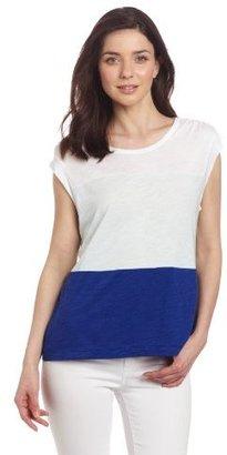 Calvin Klein Jeans Women's Petite Color Block Top