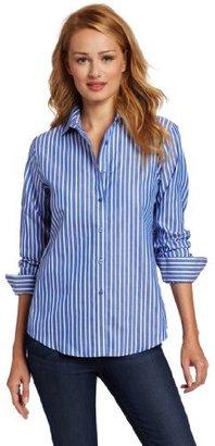 Jones New York Women's No-Iron Easy Care Striped Shirt