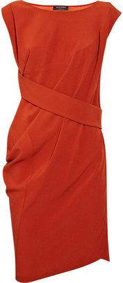 Narciso Rodriguez Draped silk-blend crepe dress