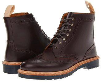Dr. Martens Bentley Brogue Boot (Oxblood/Oxblood/Polished Smooth) - Footwear