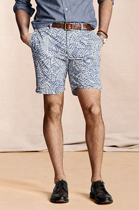 Lands' End Canvas Men's Leaf Print Chino Shorts