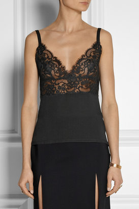 Georgette and lace camisole