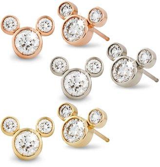 Disney Diamond Mickey Mouse 14K Earrings Small