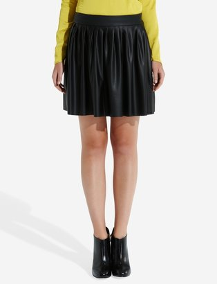 The Limited Forenza Pleated Faux Leather Skirt