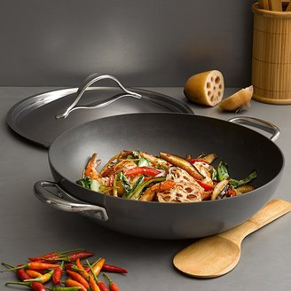"Anolon Nouvelle Hard Anodized 12"" Covered Wok"
