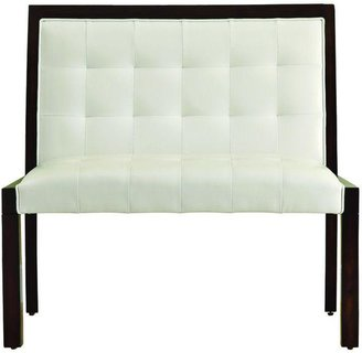 48 in. L Taupe Leather-Look and Cappuccino Wood Bench