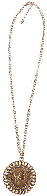 Forever 21 Roman Coin Necklace