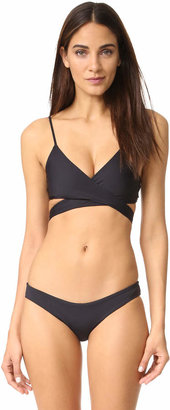 L*Space Sweet & Chic Chloe Wrap Bikini Top $79 thestylecure.com