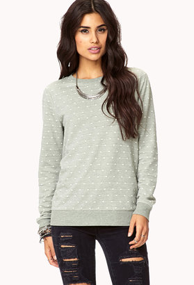 Forever 21 Relaxed Swiss Dot Top