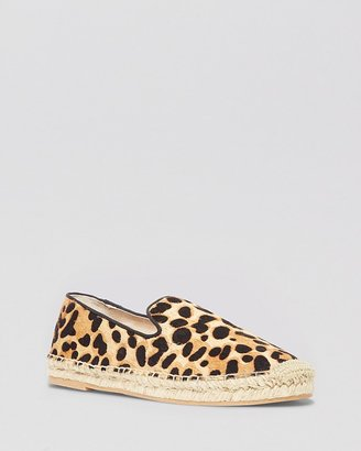 Steve Madden STEVEN BY Espadrille Smoking Flats - Lanii Leopard Smoking Shoe
