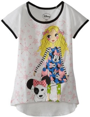 Disney Girls 7-16 Blond Minnie 2 Fashion Tee