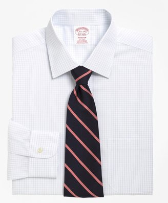 Brooks Brothers Madison Classic-Fit Dress Shirt, Non-Iron Graph Check
