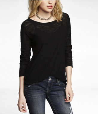 Express Rolled Sleeve Tunic Sweater