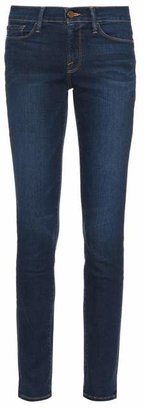 Frame Le Skinny De Jeanne Mid Rise Jeans - Womens - Indigo