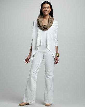 Eileen Fisher Organic-Cotton Wide-Leg Jeans, Petite