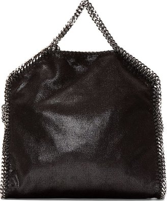 Stella McCartney Black Shaggy Deer Chain-Trimmed Foldover Falabella Bag