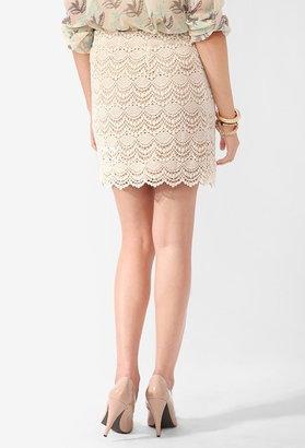 Forever 21 Femme Scalloped Lace Skirt