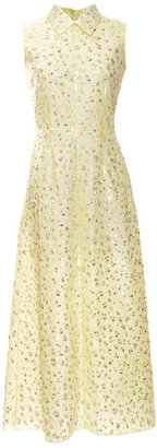 Rochas Embroidered Leopard Bonded Silk Dress