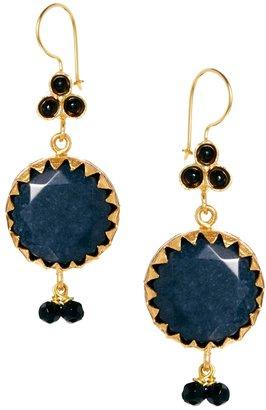 Ottoman Hands Cabiz Large Stone Earrings