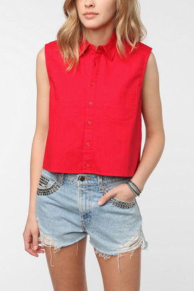 Urban Outfitters byCORPUS Sleeveless Cropped Button-Down Shirt