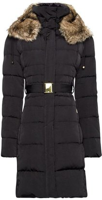 MANGO Furry hood quilted coat